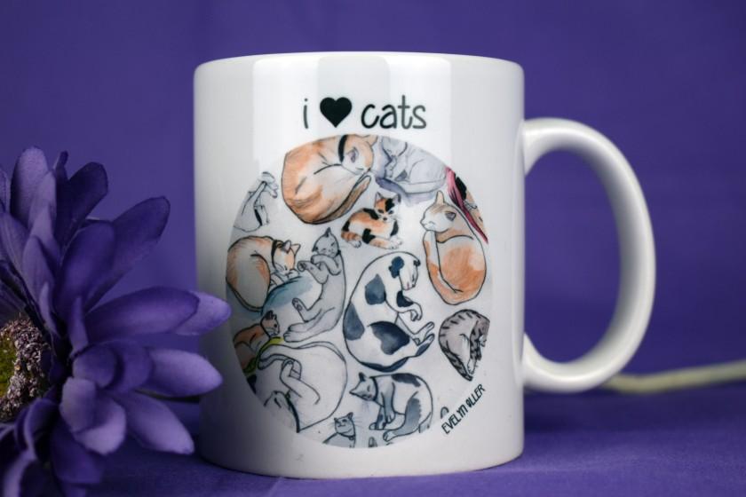 taza I love Cats (4)