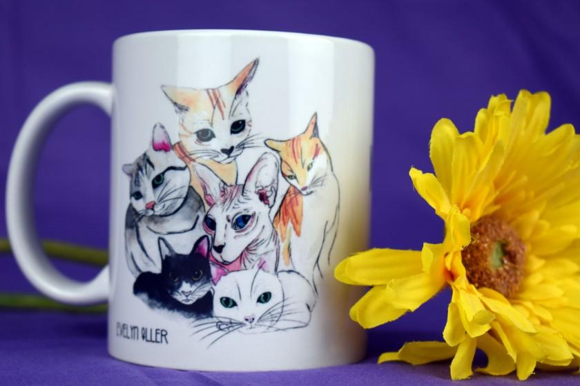 taza I love Cats (5)